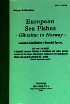 European Sea Fishes. Gibraltar to Norway. Taxonomic Classification