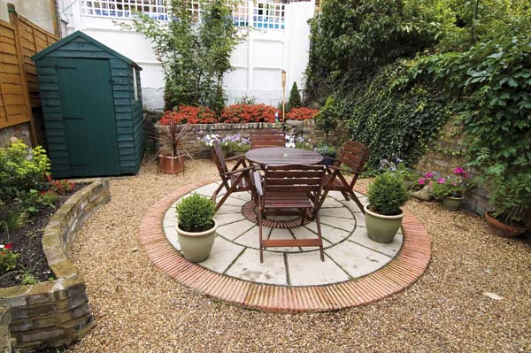 A completely rebuilt small London town garden